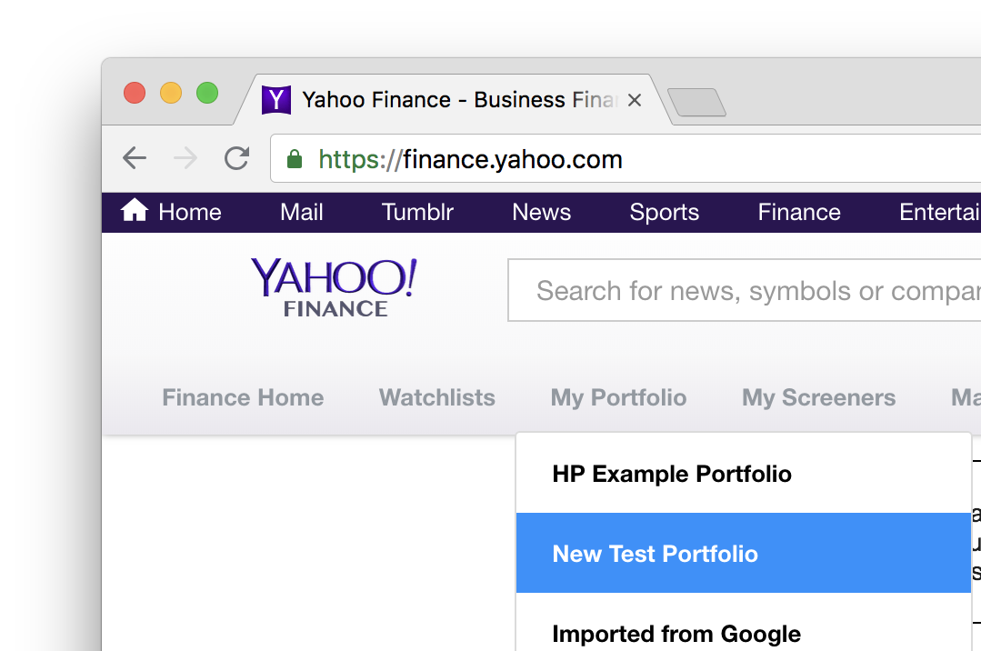 Import Your Personal Portfolio From Yahoo Finance Anlage App